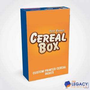 Custom Cereal box packaging