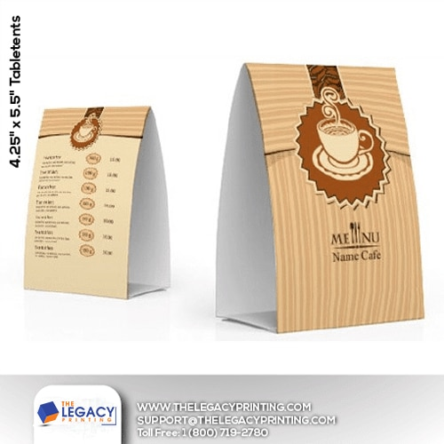 cheap table tents printing