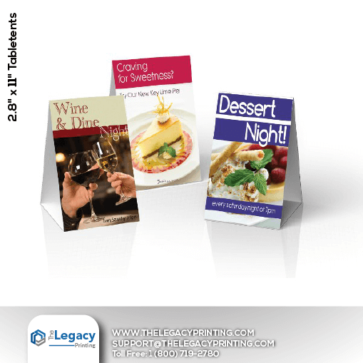 custom table tents table tents printing the legacy printing
