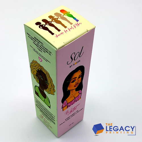 Hair Spray Box packaging