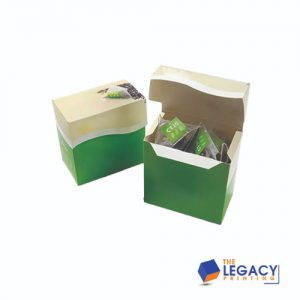Hemp teabag box packaging
