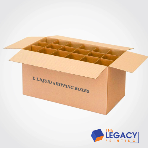 E-liquid shipping box packaging
