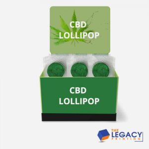 CBD Lollipop Box packaging